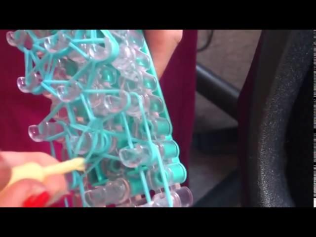 Bracelet élastique - Noeud  papillion élastique en rainbow loom
