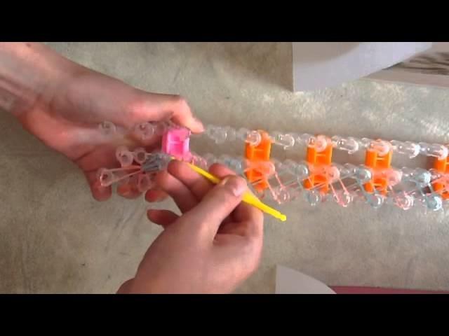 Rainbow loom : bracelet spirale en français