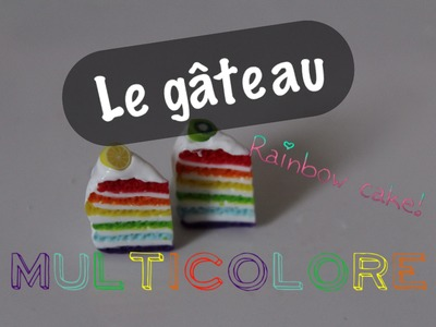 Le gateau multicolore~Le Rainbow Cake!