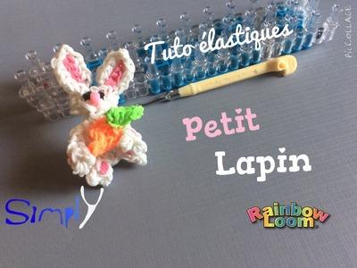 Tuto { Lapin avec sa carotte en élastiques Rainbow Loom } Simply