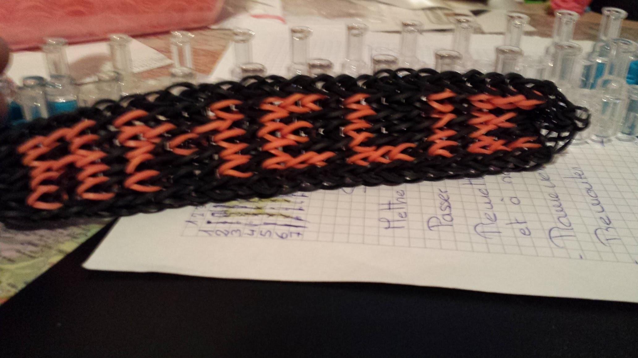 "Bracelet prénom "" Amélie "" tuto Rainbow loom"