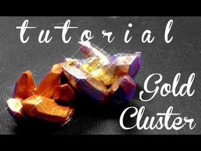 Crystal Cluster Or ll Yes We Craft #9 polymer clay fimo tutorial