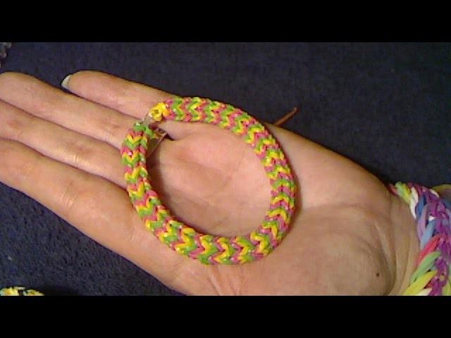 Rainbow Loom francais bracelet rond fin ( loom band )