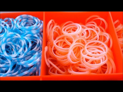 Mon rangement rainbow loom.bracelets élastiques