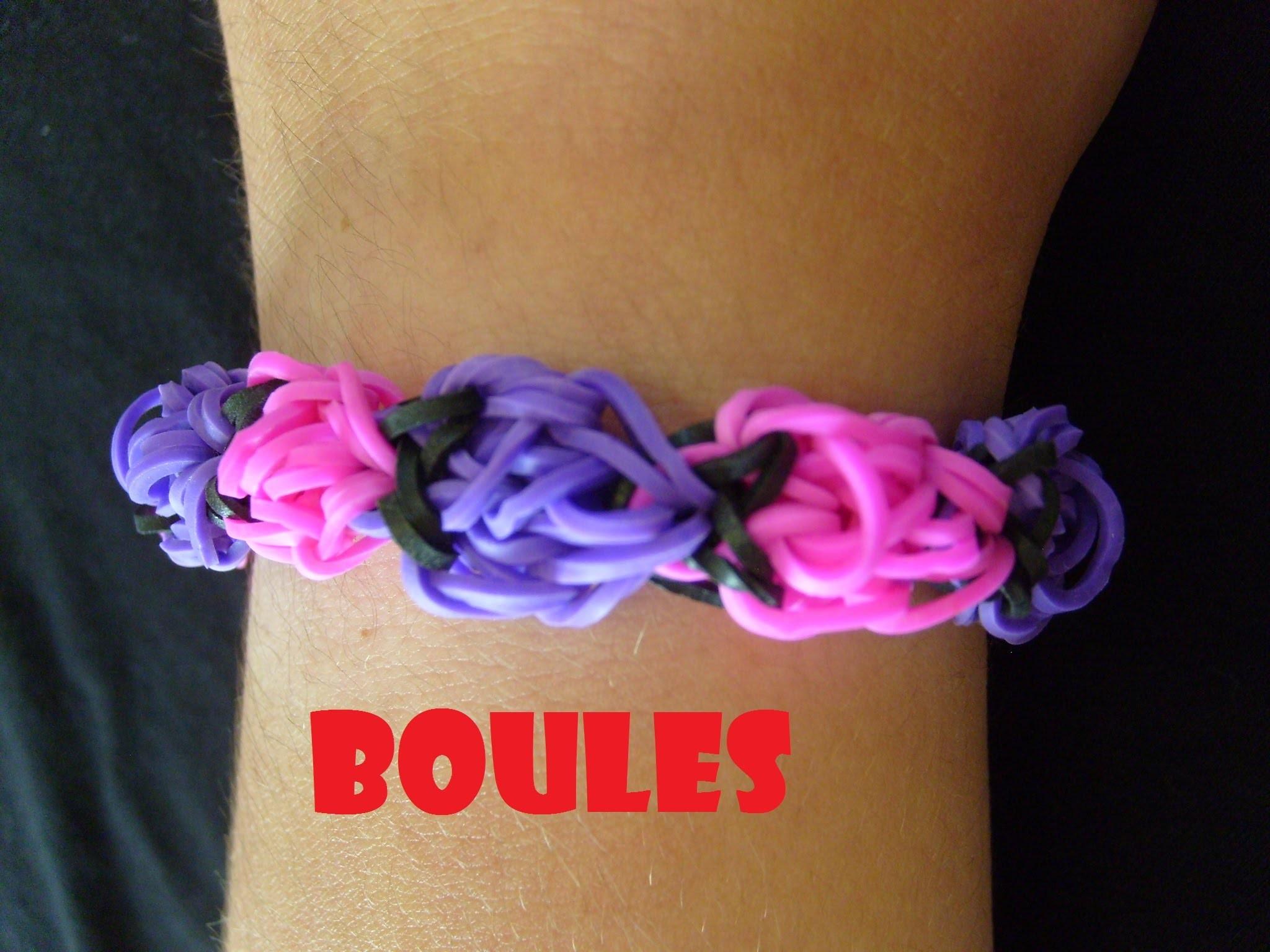 Rainbow loom bands Bracelet Boules en bracelet elastique (tuto francais)