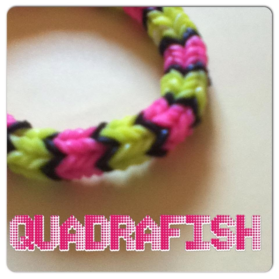 Tuto rainbow loom Quadrafish (en français )