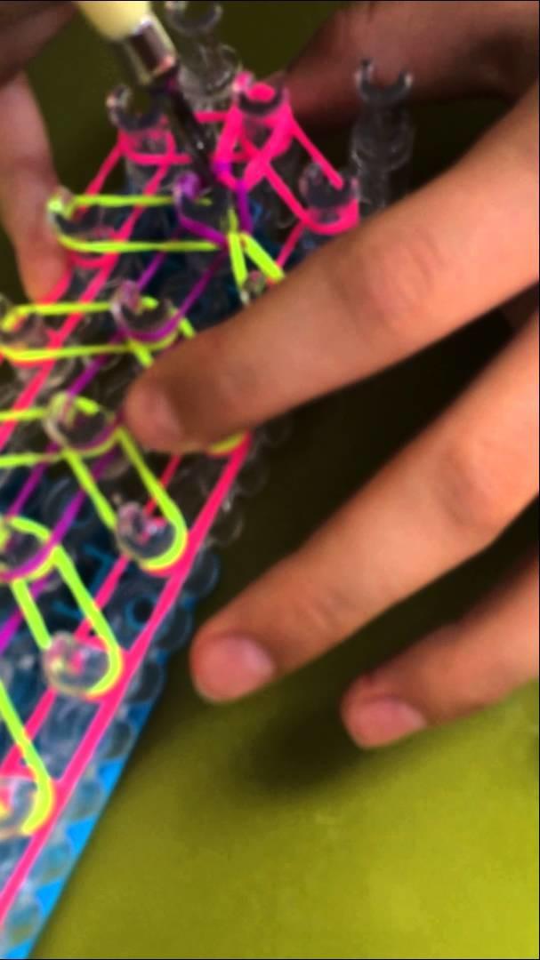 "Bracelet Rainbow loom ""SOLEIL SUPER_LOULOUTE"" France"