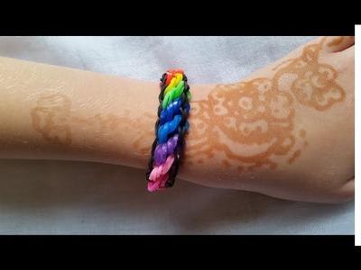 ❀ Rainbow Loom Bracelet Torsadé Rotini Multicolor ❀
