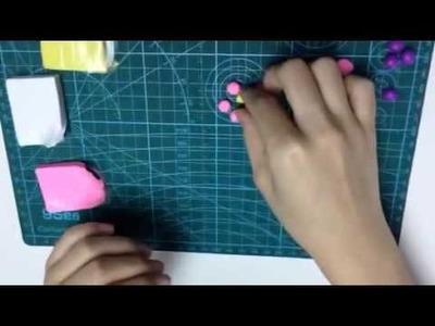 Argile polymère - Fabrication de fleurs - artisanat【POLYMER CLAY】00021+fr