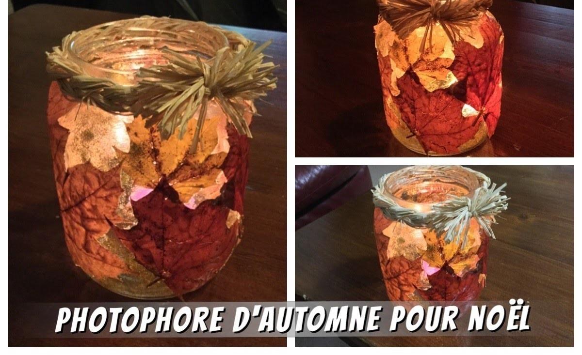 DIY - PHOTOPHORE D'AUTOMNE POUR NOËL