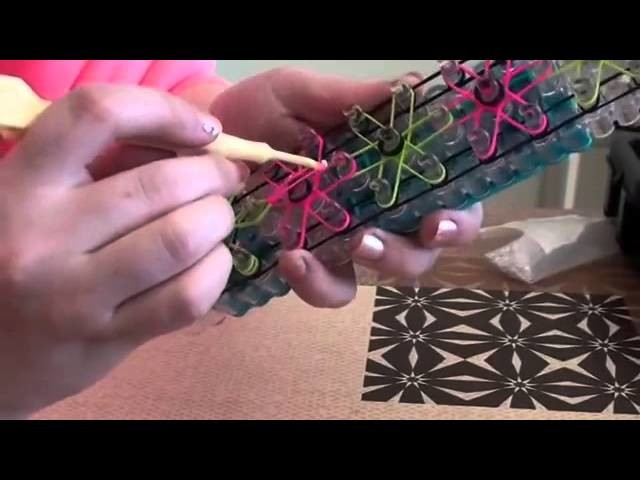 Bracelet Fleurs Rainbow loom® Tutoriel Français
