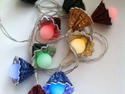 DIY Nespresso: Comment-faire une guirlande lumineuse multicolor