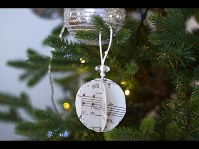 DIY Noël : suspension musicale de Noël