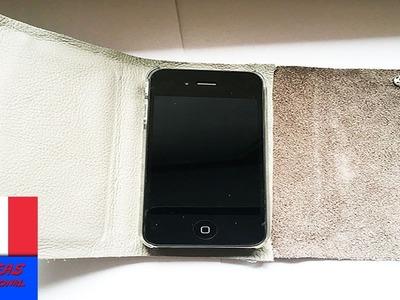 Etui pour téléphone portable. Cuir et carton. DIY pour iPhone ou smartphone sous Android