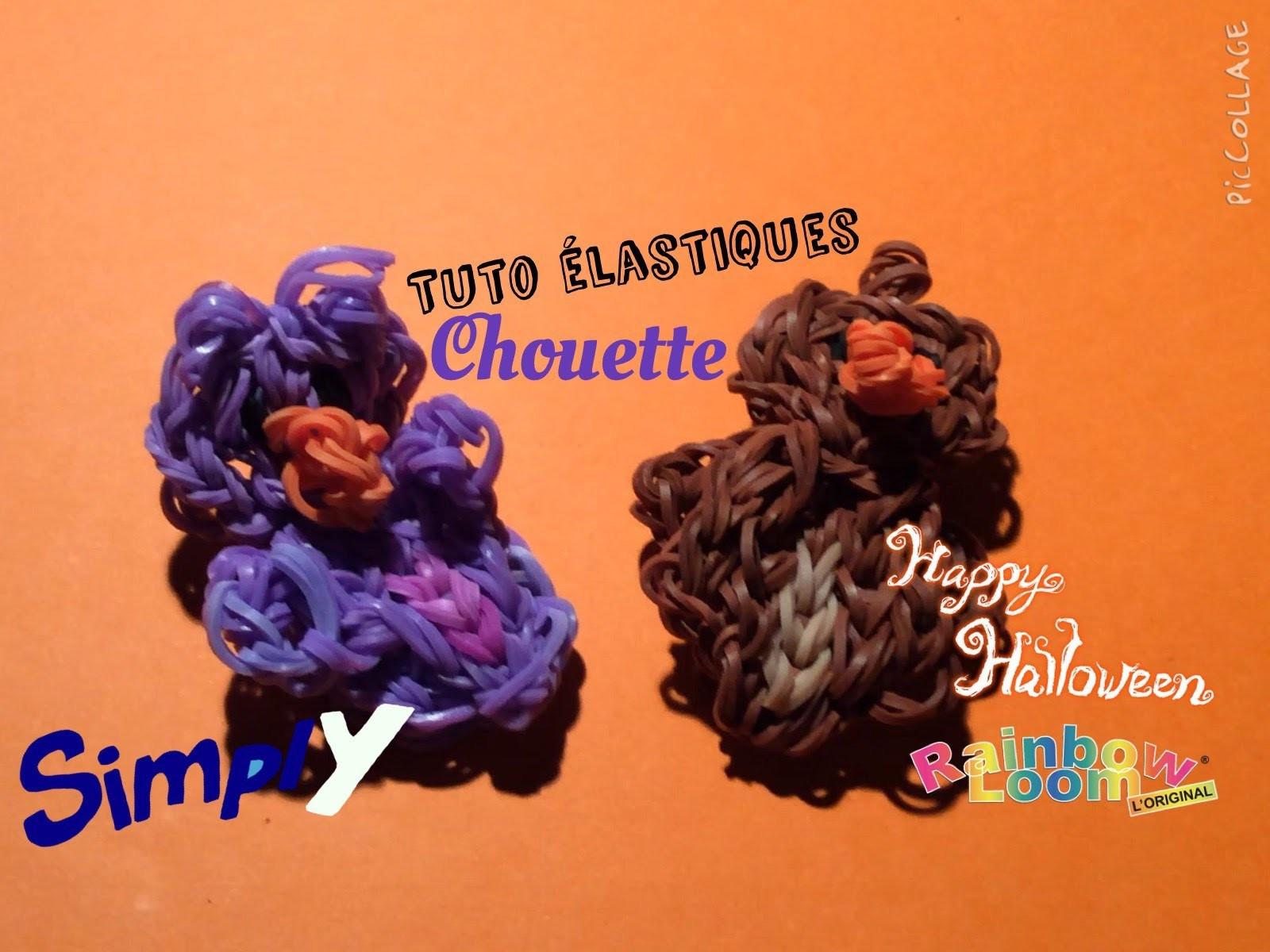 {Tuto Halloween #6} Chouette.Hibou en élastiques Rainbow Loom | Simply