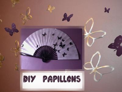 DIY ✔ TUTO papillons muraux 3D ✔ wall butterflies (video)