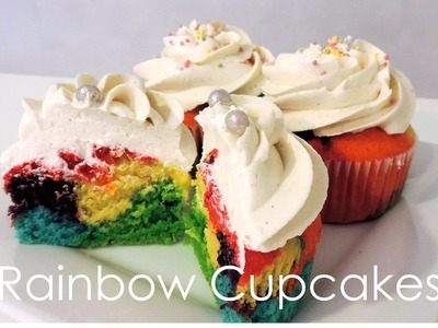 Recette des Rainbow Cupcakes (Arc-en-ciel) - William's Kitchen