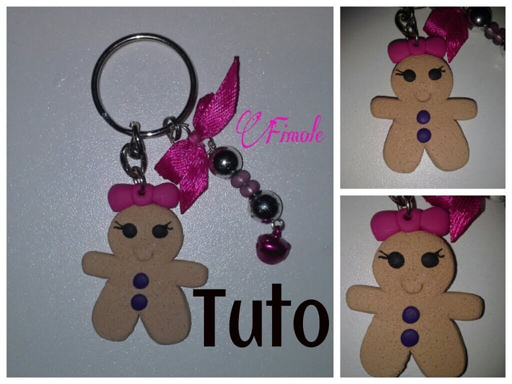Tuto fimo madame biscuit sans moule. polymer clay madam cookie without mold