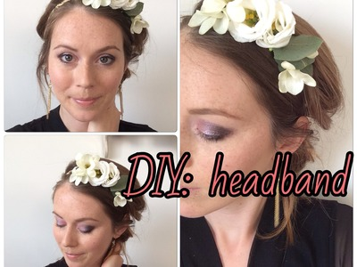 DIY coiffure : Comment réaliser un headband Fleuri. DIY Hair Flowers Headband