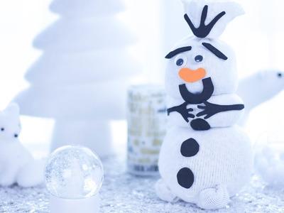 DIY Noël : Olaf de la Reine des neiges en chaussette - Tuto bricolage décoration maison