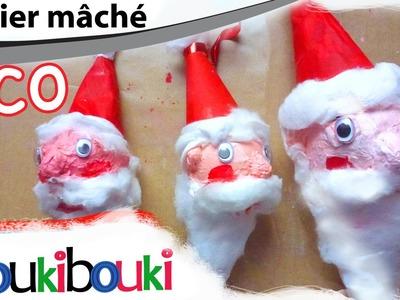 DIY tête de PÈRE NOËL en papier mâché | Décoration de Noël - activité artistique pour enfant