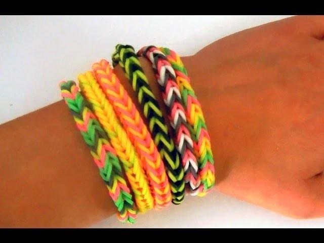 Tutoriel: Comment réaliser un bracelet élastique fishtail RAINBOW LOOM  - Français-  (DEBUTANT)