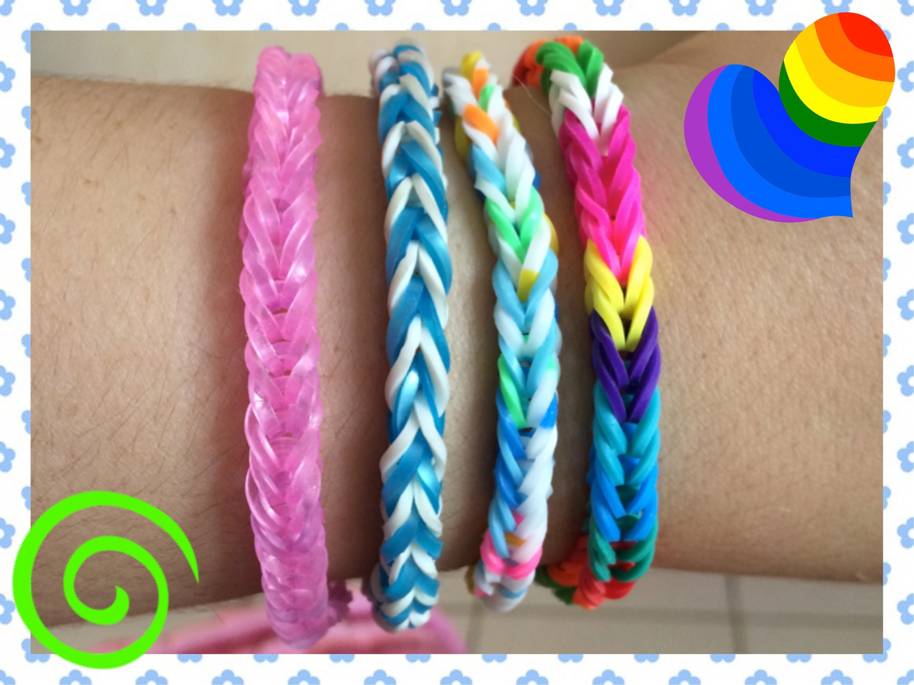 Loom #12 Bracelet Simple (En Français)(Rainbow Loom)