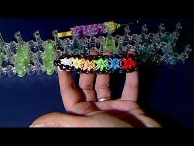 Rainbow loom francais bracelet multi fleurs (loom band)