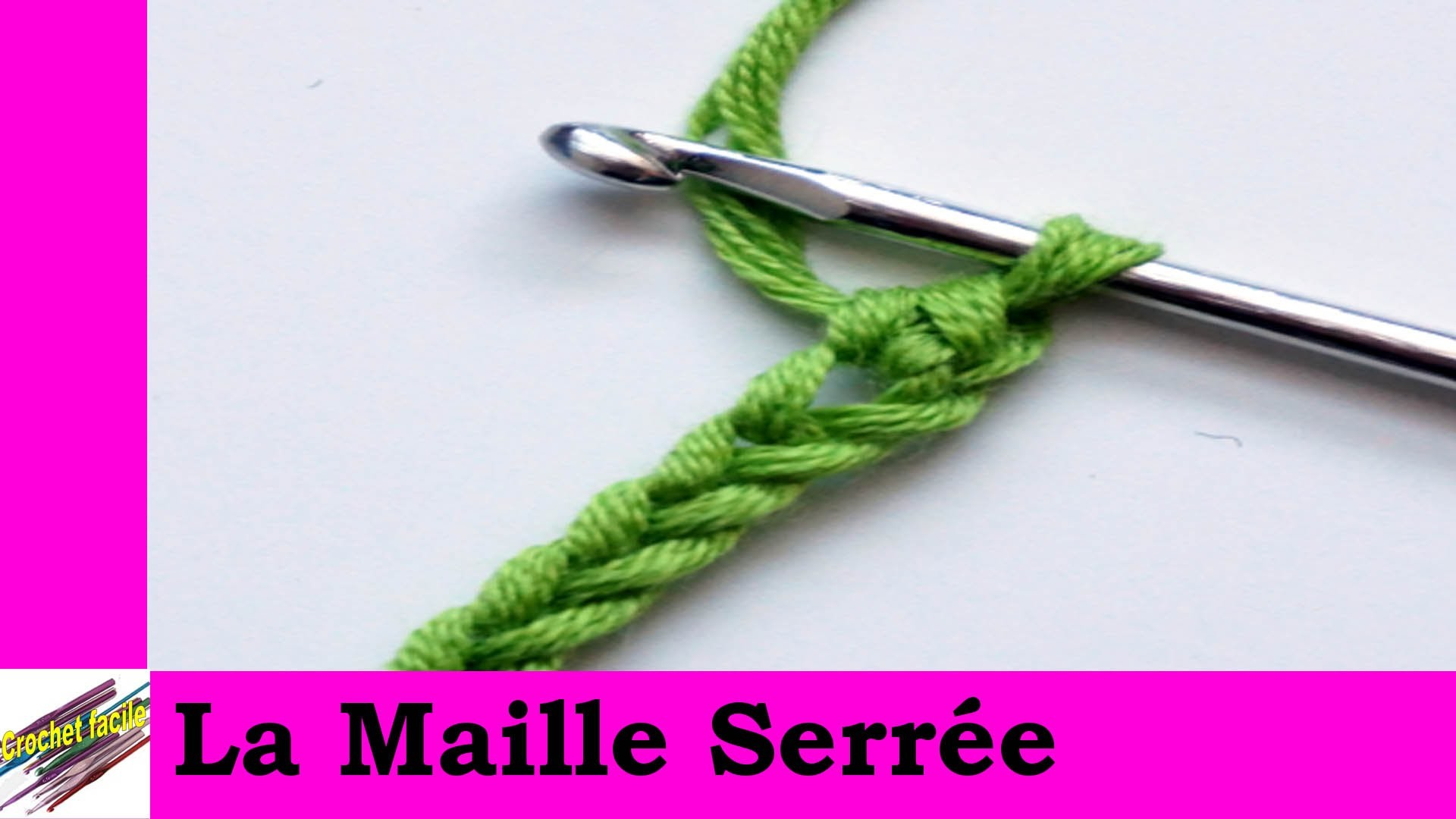 Technique de crochet : la maille serrée