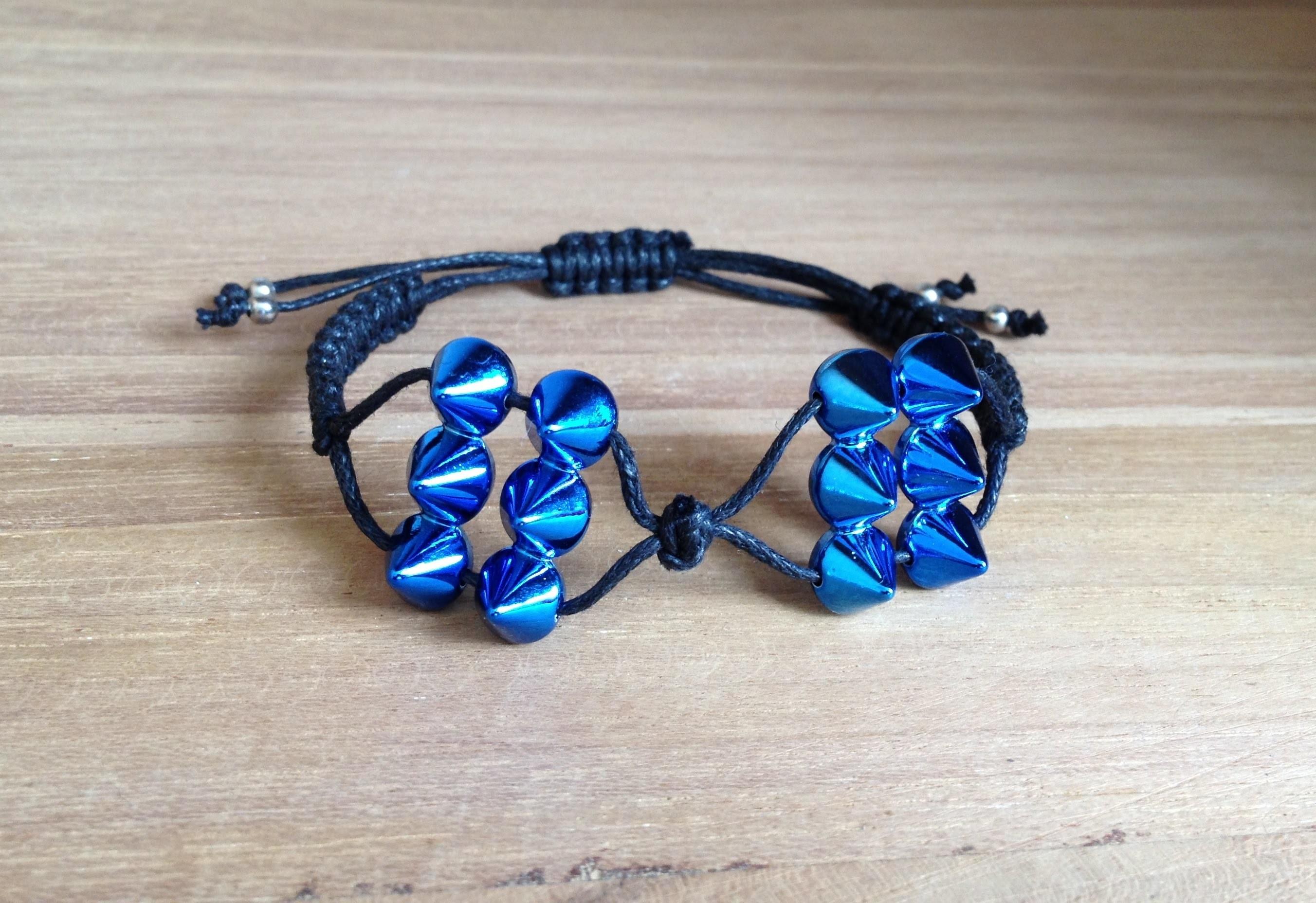 Tutoriel - DIY Comment tisser un bracelet macramé avec des rivets ?