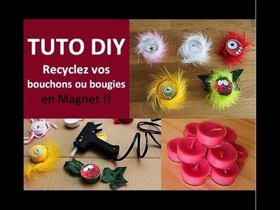 Tuto DIY Recyclage Bouchon plastique ou Bougie en magnet rigolo - Cécile Cloarec