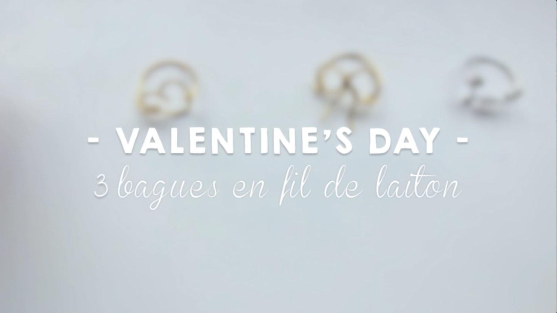 ♡ {D.I.Y.} - Bagues coeur, noeud & Love en fil de laiton | Easy Wire rings ♡