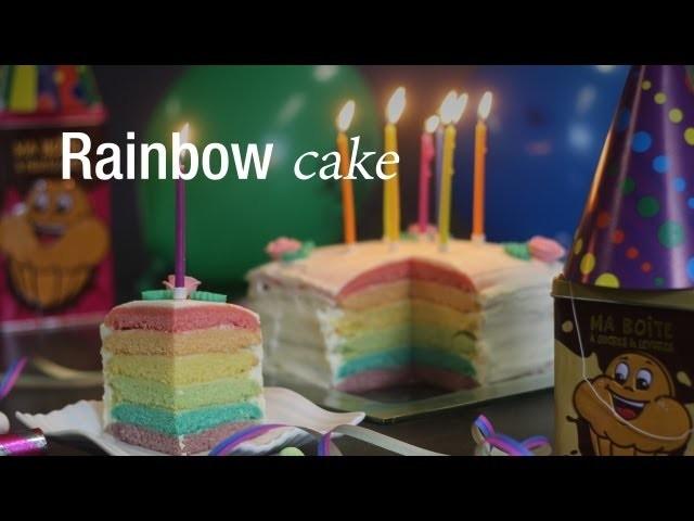 Rainbow Cake - Dessert Anniversaire : CuisineAZ