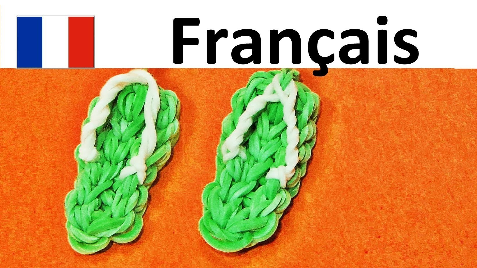 Rainbow Loom Francais. Bracelet Elastique | Sandales. tongs | loom bands sandals