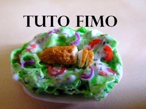 TUTO FIMO - La salade composée. polymer clay salad