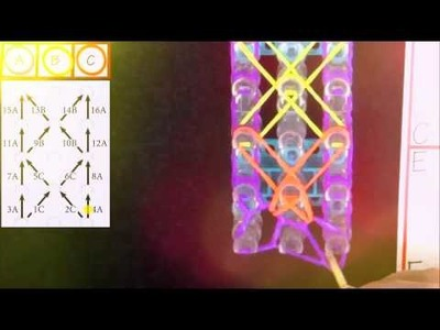 Bracelet étoile de mer( Rainbow Loom France)