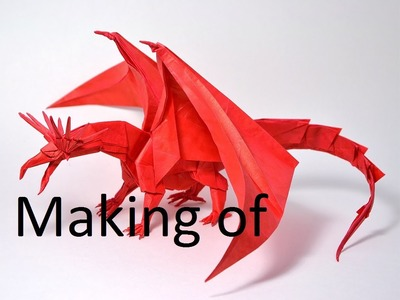 Comment faire un dragon en origami - MAKING OF!