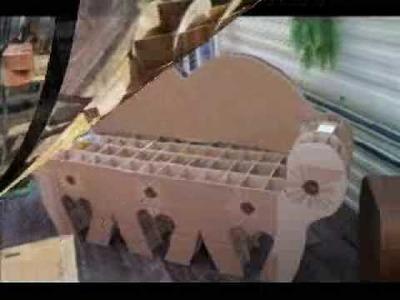 Création d'un canapé en carton