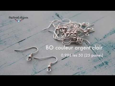 Crochet BO argent brillant et nouveautés #44 de materiel-bijoux.fr