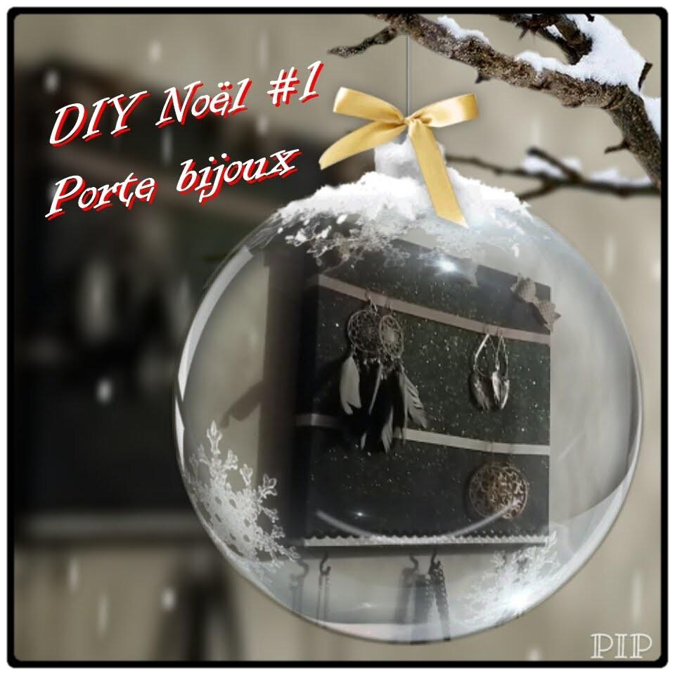 DIY Noël #1 .  Un porte bijoux à offrir .