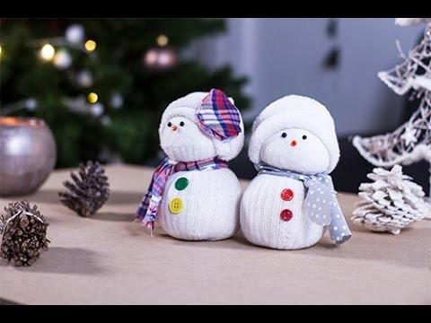 DIY Noël : Bonhomme de neige en chaussettes