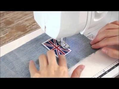 DIY sac à dos d'un ancien jeans