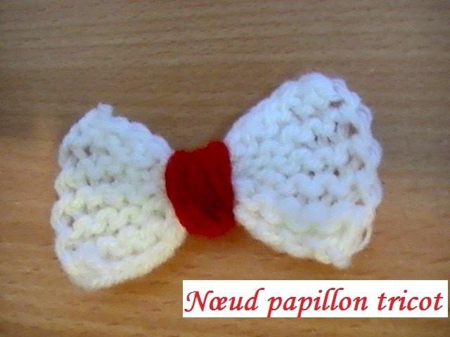 Nœud papillon tricoté pour débutante
