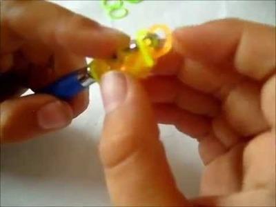 Rainbow loom Ananas en élastique tuto francais, bracelet elastique