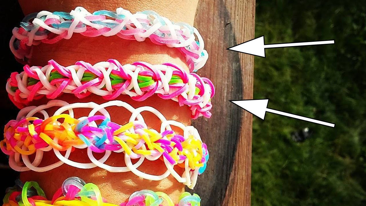 ✎ TUTO 2 bracelets rainbow loom