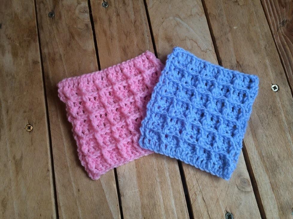 Tuto crochet: Point waffle crochet