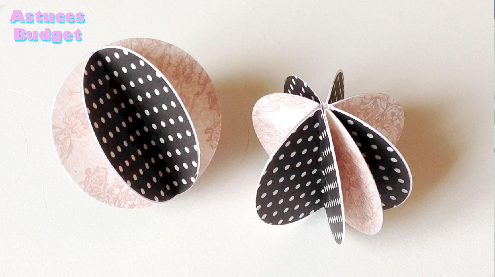 (TUTO DIY) boules décoratives en papier plié