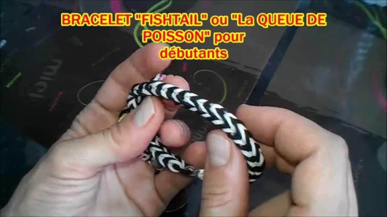 """Tuto n°2: Bracelet élastique """"Fishtail"""" ou """"La queue de poisson"""" pour débutants"""