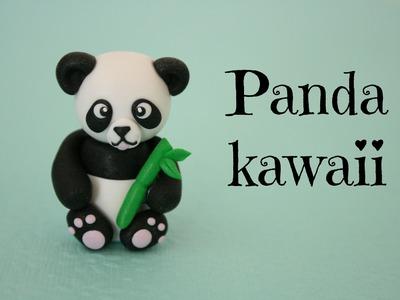 (TUTO) Panda en fimo. polymer clay