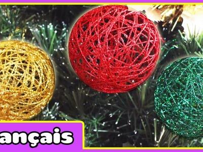 Bricolage Boules de Noël en Français| DIY Christmas Baubles in French | par HooplaKidz Français